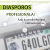 """Tyrimo pristatymas – konferencija """"Diasporos profesionalų organizacijos – galimybės Lietuvai"""""""