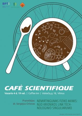 Nemirtingumas fiziko akimis: nuo krionikos link technologinio singuliarumo. Café Scientifique diskusija Vilniuje