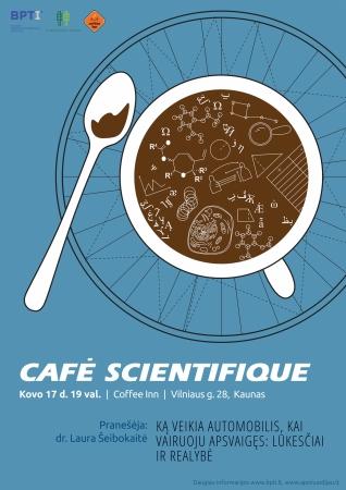 Café Scientifique diskusija Kaune: ką veikia automobilis, kai vairuoju apsvaigęs – lūkesčiai ir realybė