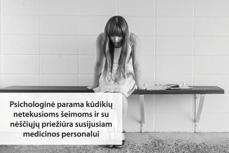 Psichologinė parama kūdikių netekusioms šeimoms ir su nėščiųjų priežiūra susijusiam medicinos personalui Lietuvos medicinos įstaigose: inovatyvių priemonių paieška
